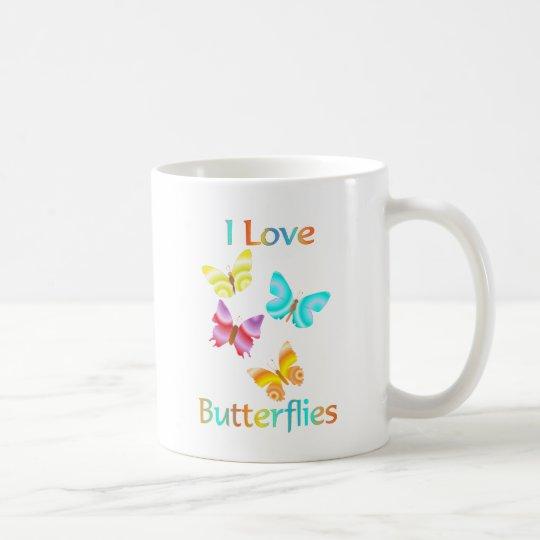I Love Butterflies Coffee Mug