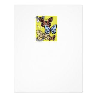 I love butterflies flyer design