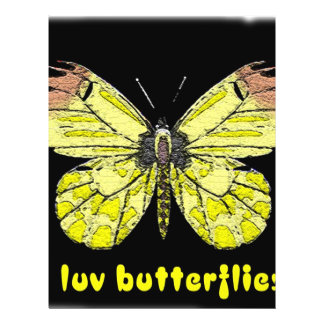 I love butterflies full color flyer