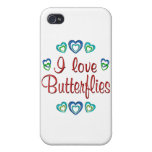 I Love Butterflies iPhone 4/4S Covers