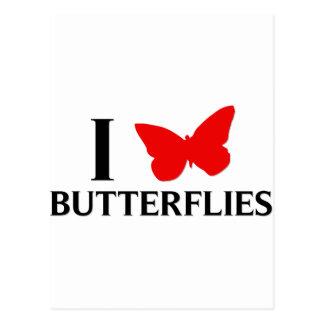 I Love Butterflies Postcard