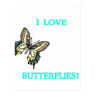 I LOVE BUTTERFLIES! POSTCARD