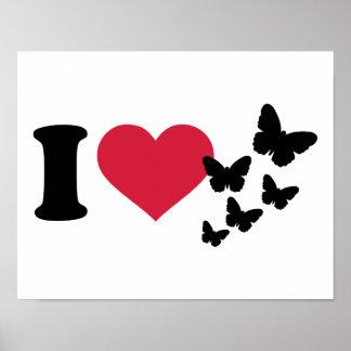 I love butterflies poster
