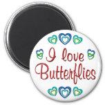 I Love Butterflies Refrigerator Magnet