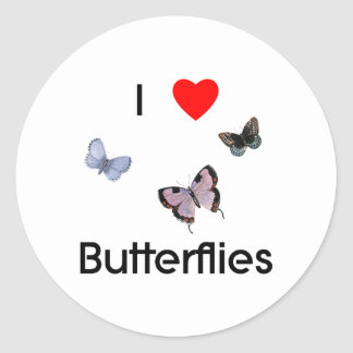 I love butterflies Sticker