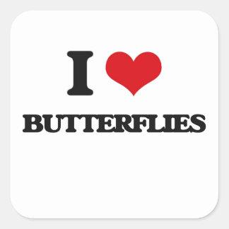 I Love Butterflies Sticker
