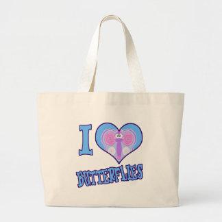 I Love butterflies Tote Bag