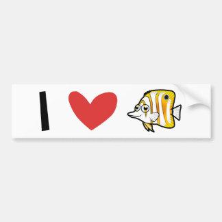 I Love Butterflyfish Bumper Sticker