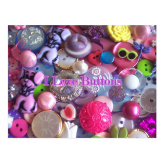 I Love buttons Postcard