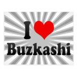 I love Buzkashi Post Cards