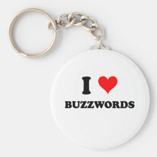 I Love Buzzwords Basic Round Button Keychain
