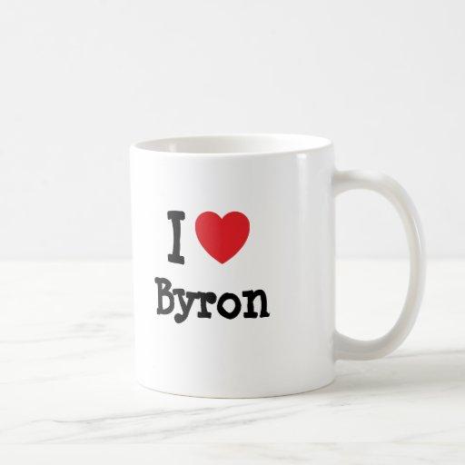 I love Byron heart custom personalized Coffee Mug