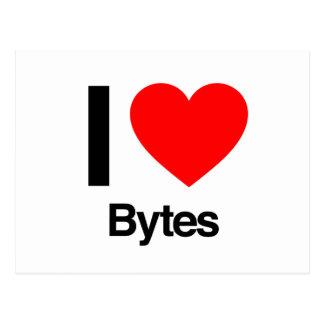i love bytes postcard