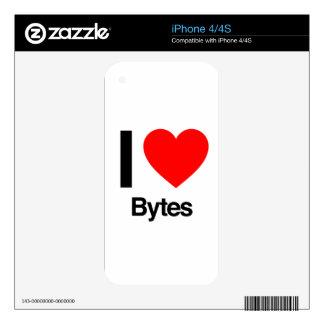 i love bytes iPhone 4 skins