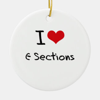 I love C-Sections Double-Sided Ceramic Round Christmas Ornament