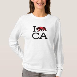 I Love CA - Bear - Ladies Long Sleeve T-Shirt