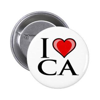 I Love CA - California Button