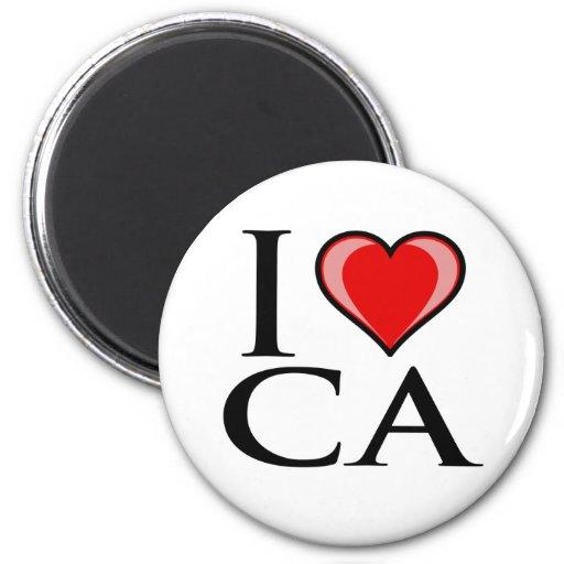 I Love CA - California Fridge Magnets