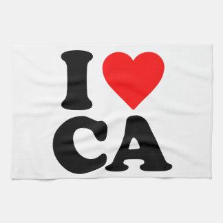 I LOVE CA TOWELS