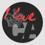 I LOVE CA STICKER