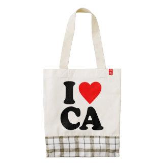 I LOVE CA ZAZZLE HEART TOTE BAG