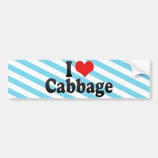I Love Cabbage Bumper Stickers