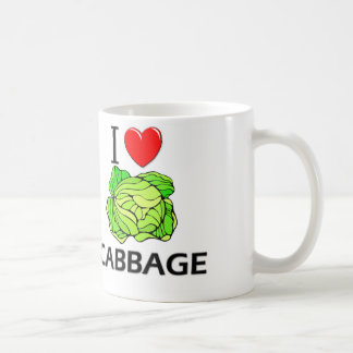 I Love Cabbage Classic White Coffee Mug