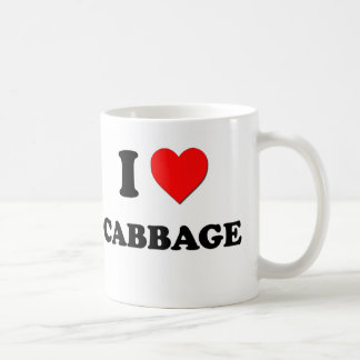 I Love Cabbage ( Food ) Classic White Coffee Mug