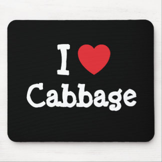 I love Cabbage heart T-Shirt Mouse Pad