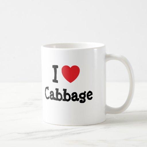 I love Cabbage heart T-Shirt Classic White Coffee Mug