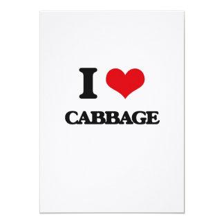 I Love Cabbage Personalized Invitations