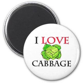 I Love Cabbage Magnet