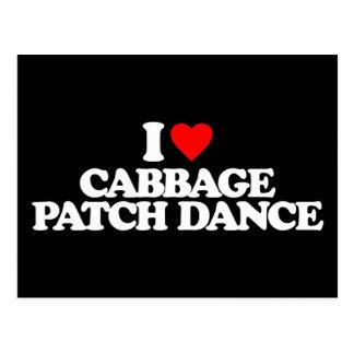 I LOVE CABBAGE PATCH DANCE POSTCARD