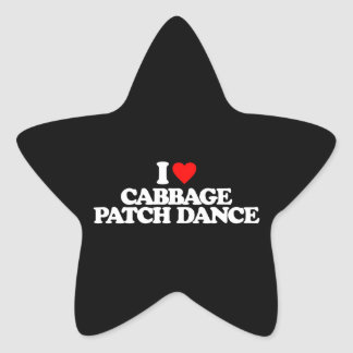 I LOVE CABBAGE PATCH DANCE STAR STICKER