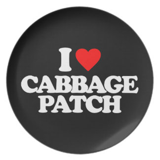 I LOVE CABBAGE PATCH MELAMINE PLATE