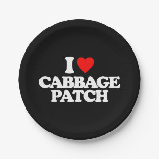 I LOVE CABBAGE PATCH PAPER PLATE