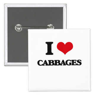 I love Cabbages Button