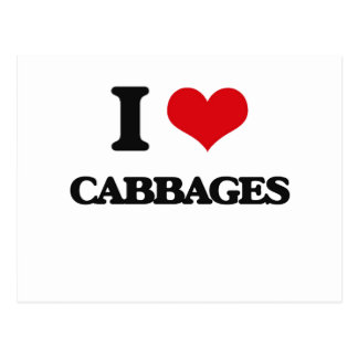 I love Cabbages Post Card