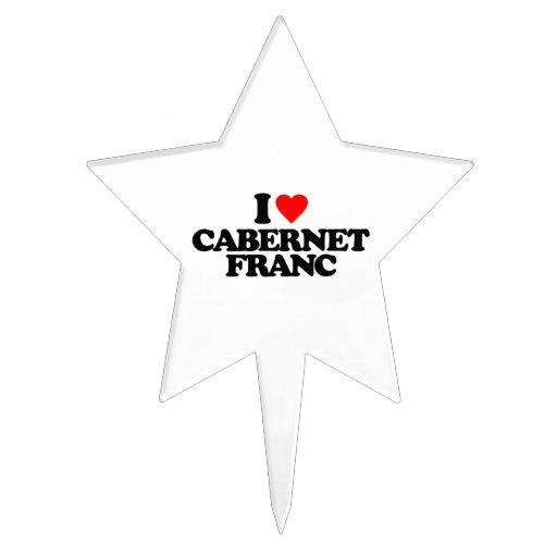 I LOVE CABERNET FRANC CAKE TOPPERS