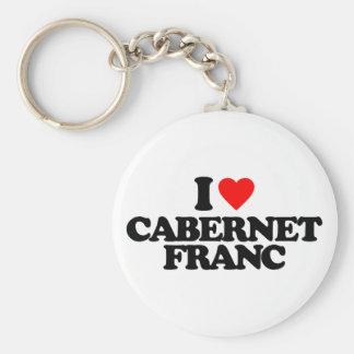 I LOVE CABERNET FRANC KEYCHAINS