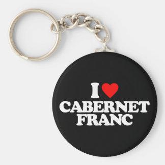 I LOVE CABERNET FRANC KEY CHAINS