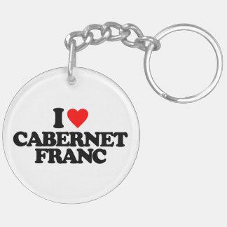 I LOVE CABERNET FRANC ACRYLIC KEY CHAIN