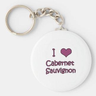 I Love Cabernet Keychains