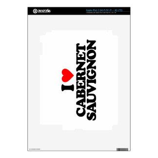 I LOVE CABERNET SAUVIGNON SKINS FOR iPad 3