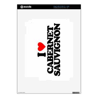 I LOVE CABERNET SAUVIGNON iPad 2 SKINS