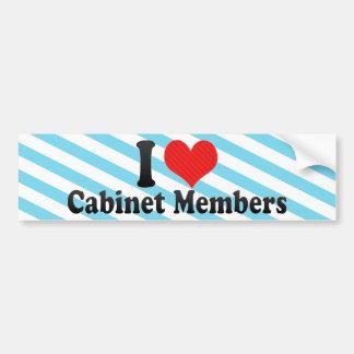 I Love Cabinet Members Bumper Stickers