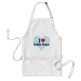 I Love Cable Guys Adult Apron