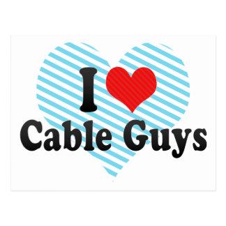 I Love Cable Guys Postcard
