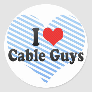 I Love Cable Guys Classic Round Sticker