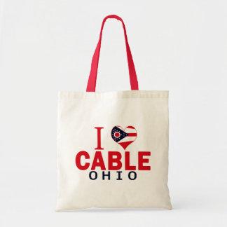 I love Cable, Ohio Canvas Bag